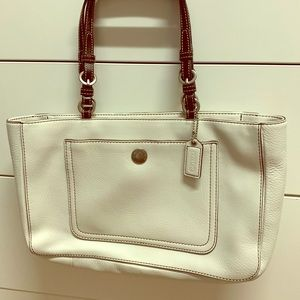 Coach Off white tote bag